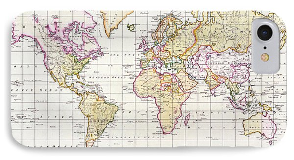 Antique Map Of The World IPhone Case by James The Elder Wyld
