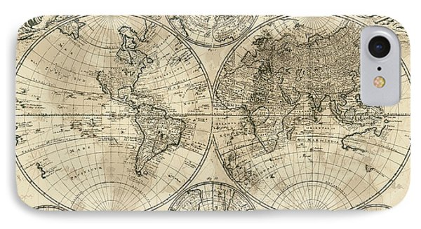 Antique Map Of The World IPhone Case