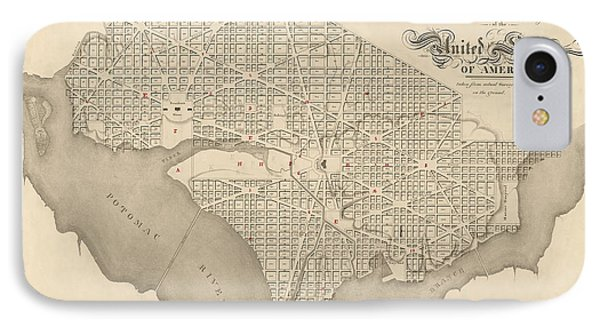 Antique Map Of Washington Dc By Robert King - 1818 IPhone Case