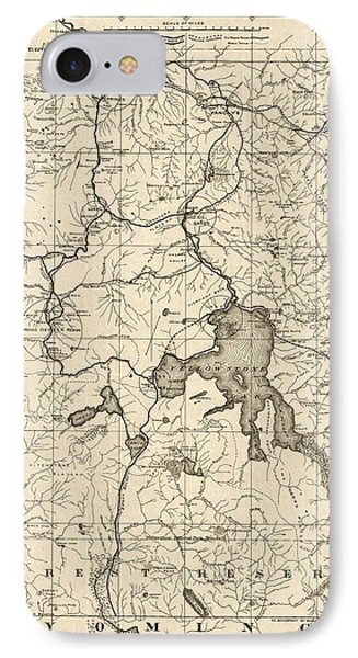 Antique Map Of Yellowstone National Park By The U. S. War Department - 1900 IPhone Case