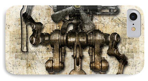 Antique Mechanical Figure IPhone Case