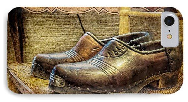 Antique Men's Shoes Still Life IPhone Case by Melissa Bittinger