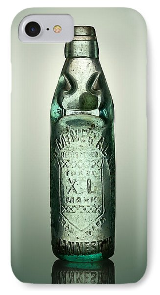 Antique Mineral Glass Bottle IPhone Case by Johan Swanepoel