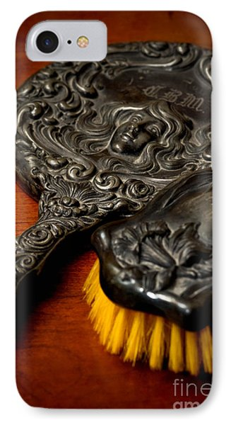 Antique Mirror And Brush Phone Case by Amy Cicconi