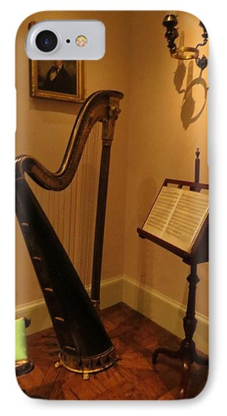 IPhone Case featuring the photograph Antique Music Room by Jeanette Oberholtzer