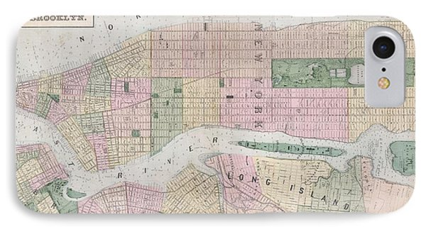 Antique New York City Map IPhone Case