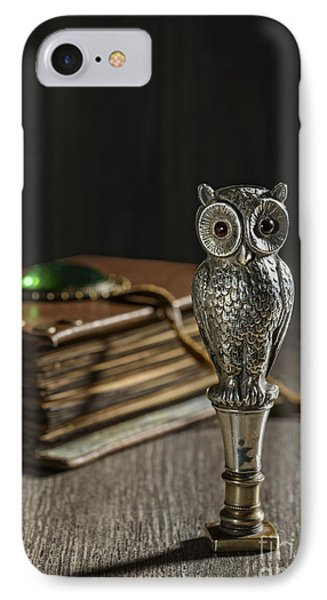 Antique Owl Seal IPhone Case by Amanda Elwell