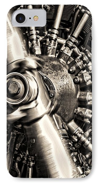 Antique Plane Engine Phone Case by Olivier Le Queinec
