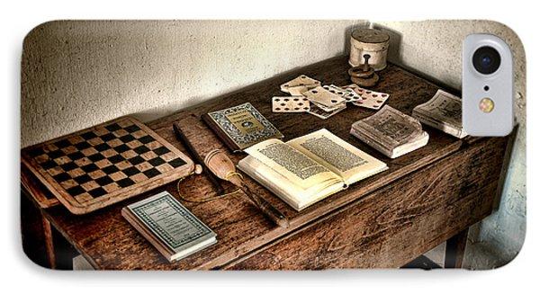 Antique Play Desk IPhone Case by Olivier Le Queinec