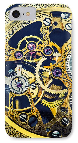 Antique Pocket Watch Gears IPhone Case by Garry Gay