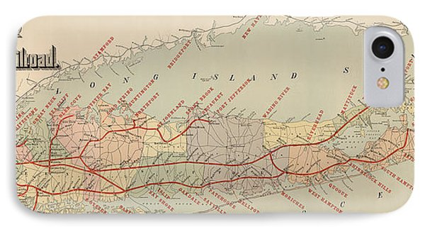 Antique Railroad Map Of Long Island By The American Bank Note Company - Circa 1895 IPhone Case