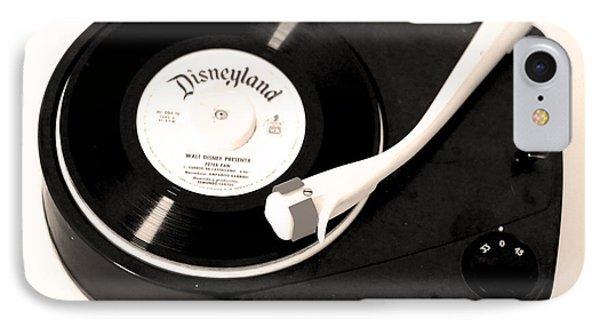 antique record Disneyland tale IPhone Case