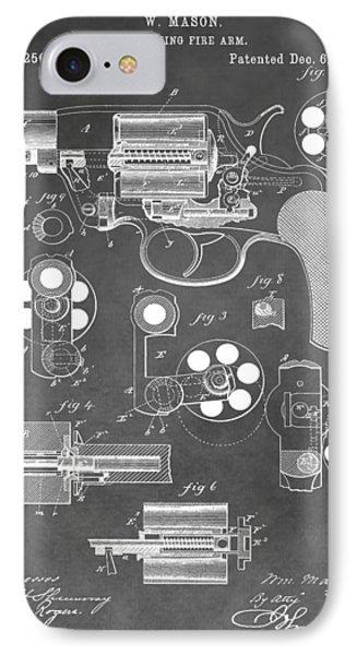 Antique Revolver Patent IPhone Case
