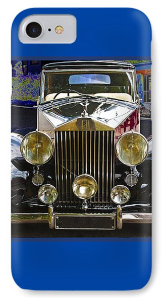 IPhone Case featuring the digital art Antique Rolls Royce by Victoria Harrington