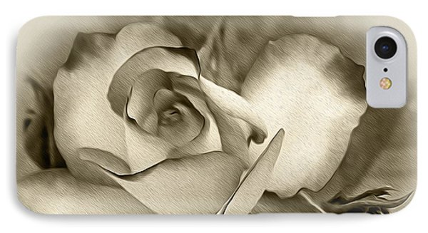 Antique Rose IPhone Case by Kaye Menner