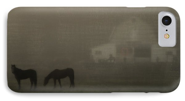 Antique Scene Of Horses In A Fog Phone Case by Mick Anderson