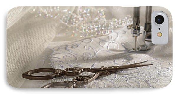 Antique Scissors IPhone Case by Amanda Elwell
