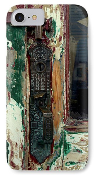 Antique Shop Door IPhone Case by Robert Riordan