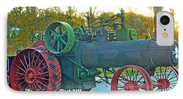 IPhone Case featuring the photograph Antique Steam Tractor by Pete Trenholm