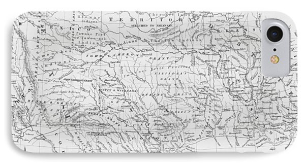 Antique Texas Map IPhone Case by Dan Sproul