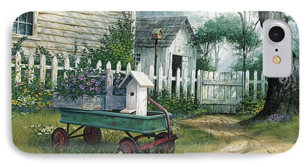 Antique Wagon IPhone Case by Michael Humphries