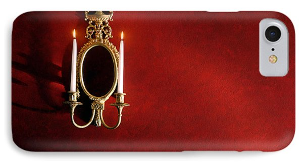 Antique Wall Sconce Phone Case by Olivier Le Queinec