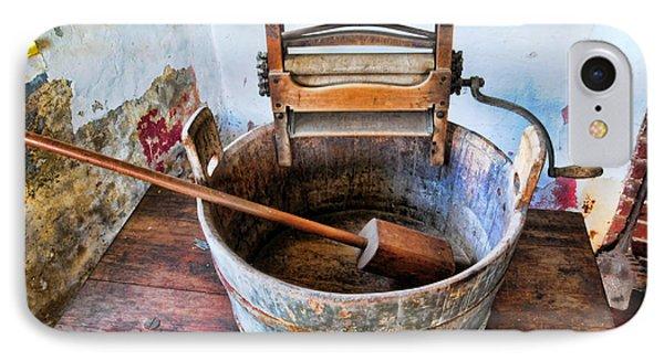Antique Washing Machine IPhone Case by Paul Ward