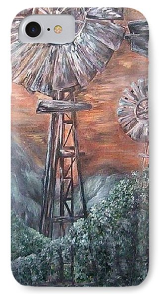 Antique Windmills At Dusk Phone Case by Eloise Schneider