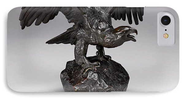 Antoine-louis Barye, Eagle With Wings Outstretched And Open IPhone Case by Litz Collection