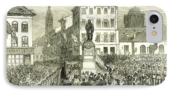 Antwerp Belgium Inauguration Of The Statue Of Teniers 1867 IPhone Case