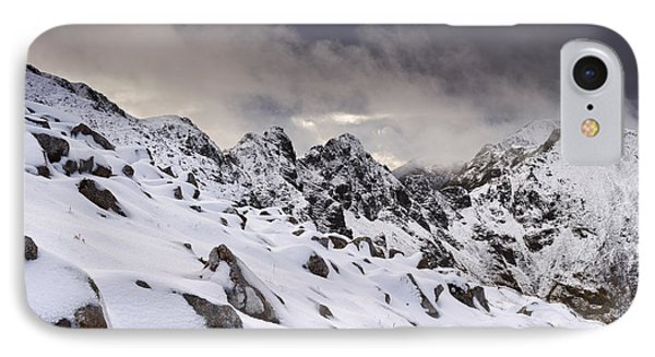 Aonach Eagach Ridge IPhone Case by Rod McLean