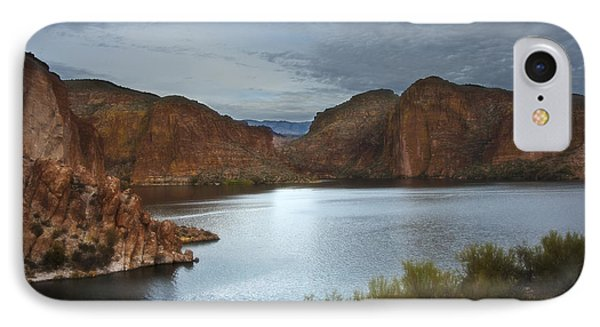 Apache Trail Canyon Lake IPhone Case by Lee Craig