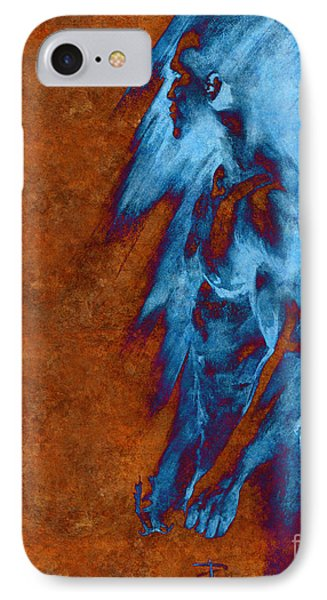 IPhone Case featuring the drawing Apart With Mood Texture by Paul Davenport