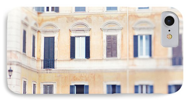 Apartment Windows In Rome IPhone Case by Kim Fearheiley