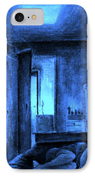 IPhone Case featuring the painting Apocalypsis 2001 Or Abandoned Soul by Mikhail Savchenko