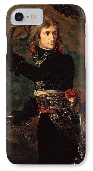 apoleon Bonaparte on the Bridge at Arcole IPhone Case by Celestial Images