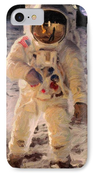 Apollo 11 Astronaut Painting IPhone Case by Celestial Images