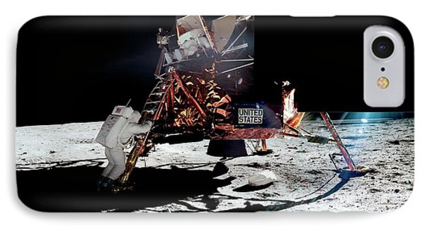 Apollo 11 Moon Landing IPhone Case by Nasa/detlev Van Ravenswaay