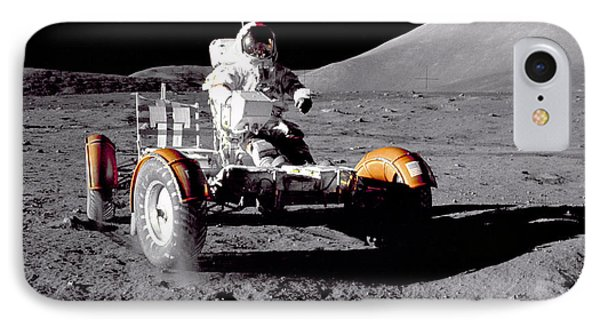 Apollo 17 Moon Rover Ride Phone Case by Movie Poster Prints
