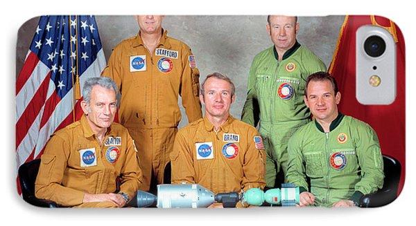 Apollo Soyuz Test Project Crew IPhone Case by Nasa