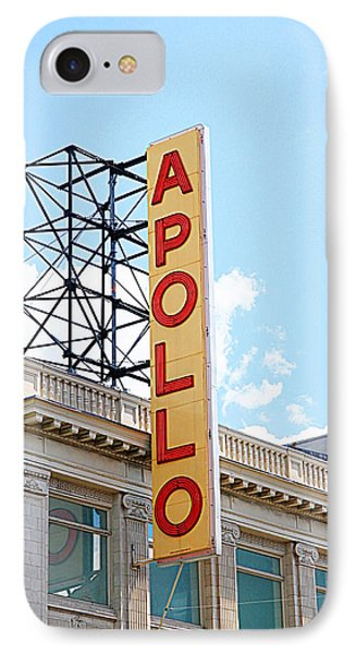 Harlem iPhone 7 Case - Apollo Theater Sign by Valentino Visentini