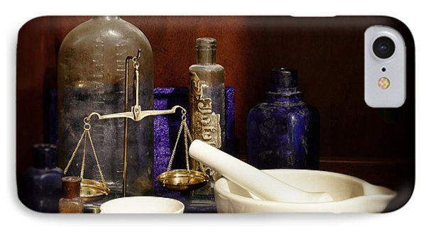 Apothecary - Mortar Pestle And Scales IPhone Case by Paul Ward