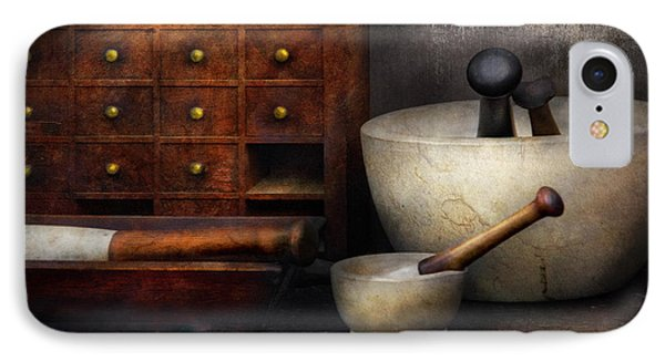 Apothecary - Pestle And Drawers Phone Case by Mike Savad