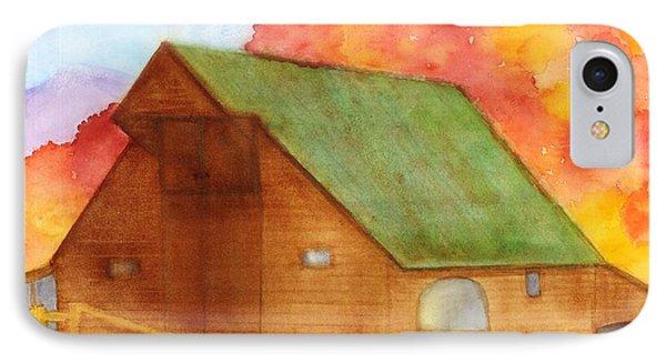 Appalachian Barn In Autumn IPhone Case by Ann Michelle Swadener