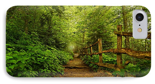 Appalachian Trail At Newfound Gap IPhone Case by Stephen Stookey