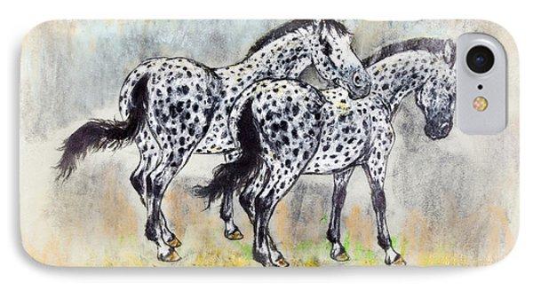 Appaloosa Horses Phone Case by Kurt Tessmann