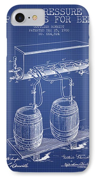 Apparatus For Beer Patent From 1900 - Blueprint IPhone Case