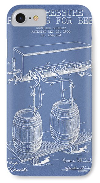 Apparatus For Beer Patent From 1900 - Light Blue IPhone Case
