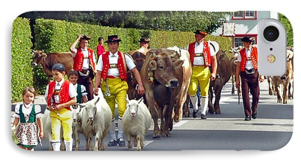 Appenzell Parade Of Cows IPhone Case