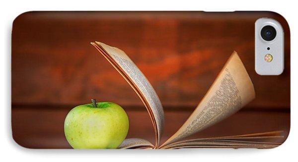 Apple And Book Phone Case by Michal Bednarek